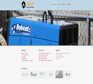 Welding Company custom website build by DocUmeant Designs