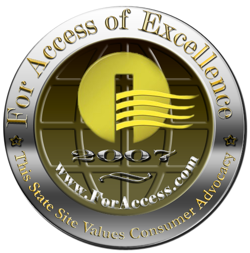 Access of Excellence 2007 Consumer Advocacy award seal