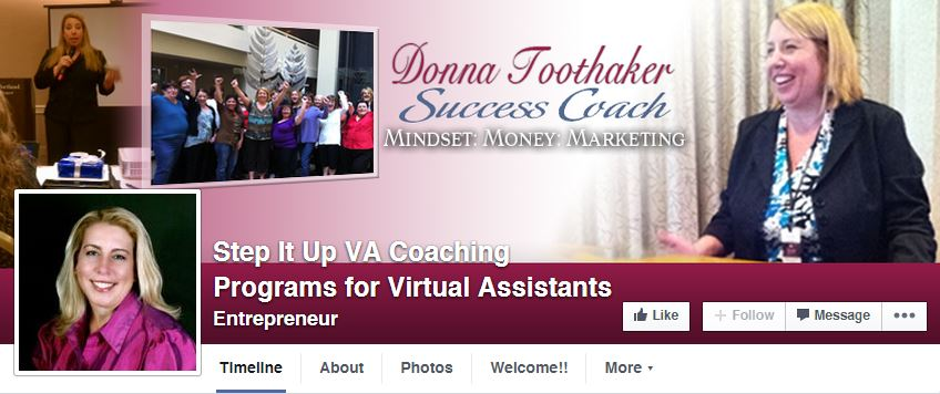 VA Coaching Client Custom Facebook Masthead